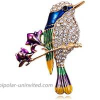 JUMOO Hummingbird Bird Brooch pin for Men and Women