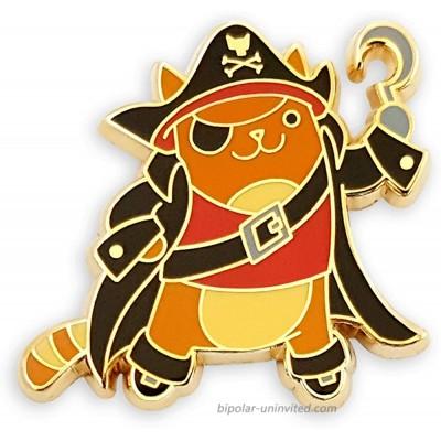 Pinsanity Cute Pirate Cat Enamel Lapel Pin