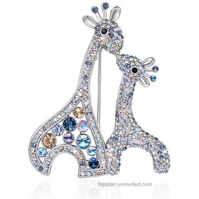 RAINBOW BOX Deer Brooch Pins for Women Rhinestone from Swarovski Crystal Jewelry Women's Brooches & Pins