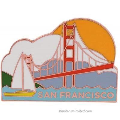 WizardPins San Francisco Golden Gate Bridge Bay Souvenir Pin– 1 Pin