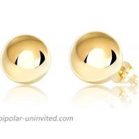 14K Yellow Gold Ball Stud Earrings 8mm - Yellow Gold