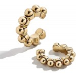 C-shaped women's ear clip with pearls without