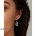 Kendra Scott Lee Drop Earrings for Women Fashion Jewelry Rhodium Plated Platinum Drusy