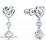 Lifelong Heart Pierced Earrings White Rhodium plated