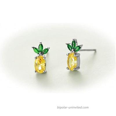 Rnivida 925 Sterling Silver Pineapple Stud Earrings Pineapple Jewelry Pineapple Gifts for Women Teens Girls