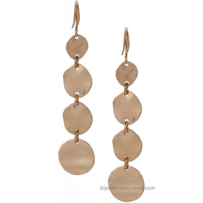Teardrop Earring Multi Layered in Gold and Silver for Women