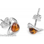 Ian and Valeri Co. Amber Sterling Silver Celtic Earrings Pendant Necklace Set Chain 18