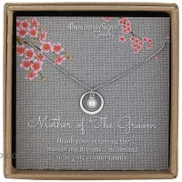 AnalysisyLove Mother of The Groom Gifts - Sterling Silver Necklace for Mother in Law Mothers Day Jewelry Birthday Gifts