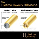 Lifetime Jewelry 11mm Diamond Cut Figaro Chain Necklace 24k Real Gold Plated 20 Inches  