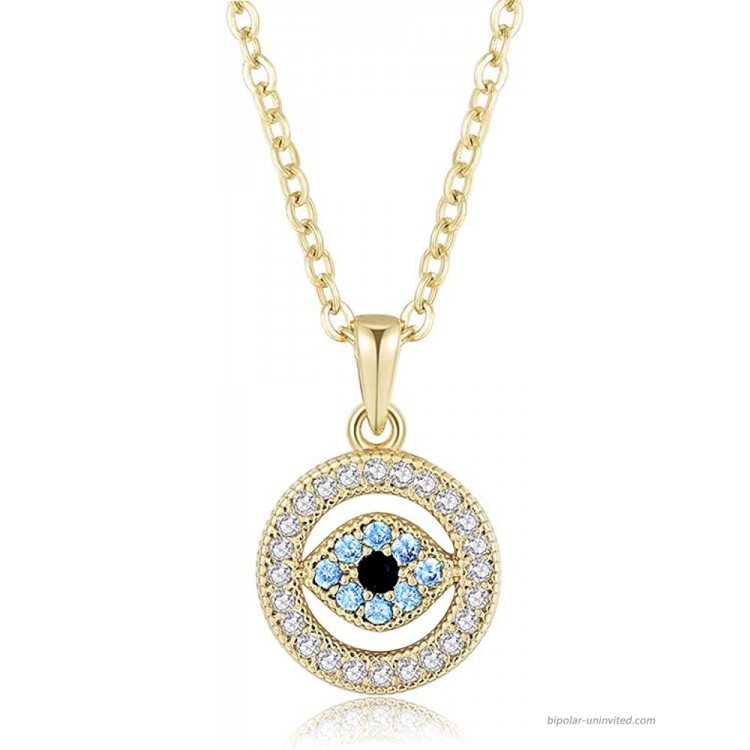 Obidos Evil Eye Pendant Necklace Lucky Jewelry Gold Necklaces for Women Girls Valentine's Day Party Special Days