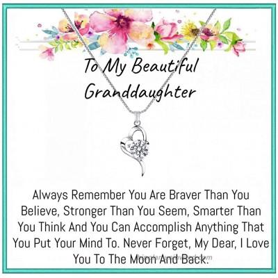 Onepurposegifts Granddaughter gift Granddaughter Necklace Granddaughter gifts from grandma Grandmother Granddaughter jewelry Heart