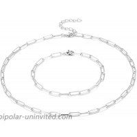 Paperclip Necklace 14K Gold Plated Oval Dainty Choker Chain Link Necklace for Women Girls