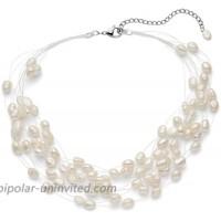 Regalia Multi Strand Baroque White Freshwater Cultured Pearl Necklace