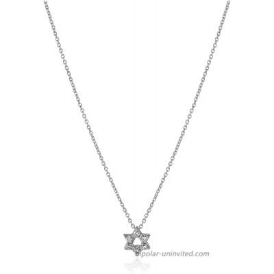 Roberto Coin Tiny Treasures 18k White Gold Diamond Star of David Pendant Necklace