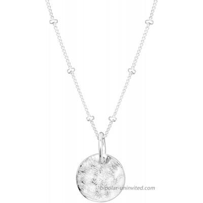 Silpada 'Satellite' Circle Disc Pendant Necklace in Sterling Silver 16 + 2 Silpada