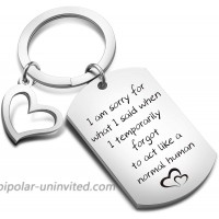 Apology Keychain Sorry Jewelry Sorry Gift Idea for Apologizing I'm Sorry Keychain Sorry Gift for Her Him KR sorry