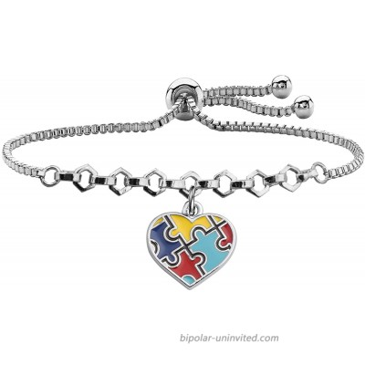 Autism Awareness Keychain Gifts for Autistic Colorful Puzzle Piece Key Ring Set of 2 Autism Awareness bracelet