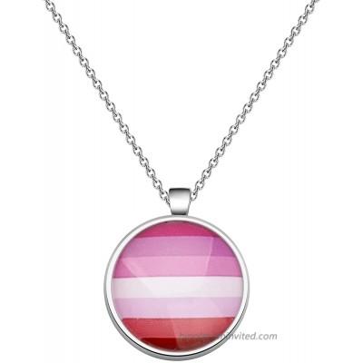 CHOORO Gay Pride Gift LGBT Keychain Rainbow Pride Keychain LGBT Jewelry Bisexual Pride Gift Transgender Pride Gift LGBT Necklace-Lipstick Lesbian