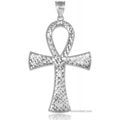 Egyptian Ankh Cross Sterling Silver Pendant Claddagh Gold
