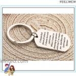 FEELMEM Confirmation Sponsor Gift Sponsor Keychain Sponsor Thank You Keychain Baptism Confirmation Sponsor Proposal Gift for Godparents Godmother Catholic Mentor Gift Silver