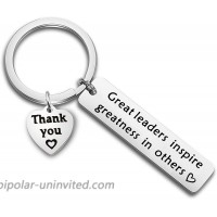 FUTOP Boss Gift Great Leaders Inspire Greatness in Others Keychain Thank You Gift for Supervisor Mentor leader keychain