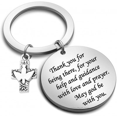 G-Ahora Confirmation Sponsor Keychain Thank You for Being There for Your Help and Guidance with Love and Prayer Sponsor Thank You GiftsKR Thank You Being