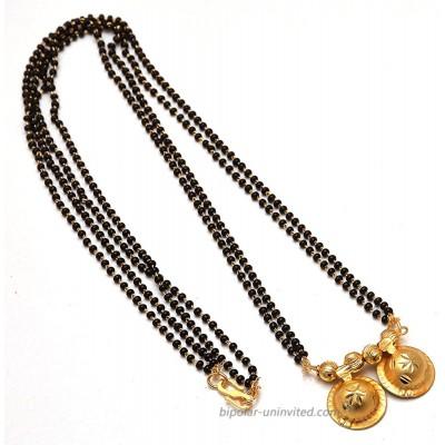 Mangalsutra South Indian katori Religious Kundan Ad Gemstones Fine Gold Finish Simply Look Jewelry 7617