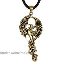 Moonlight Mysteries Bronze Rise of The Phoenix Pendant Necklace