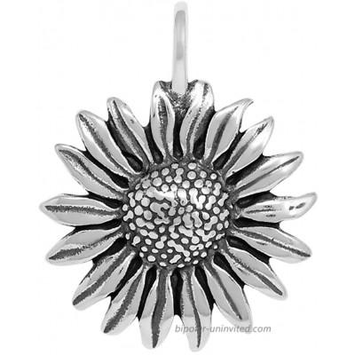 Raposa Elegance Sterling Silver Sunflower Pendant approximately 30.5 mm x 21.5 mm