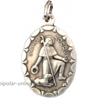 SAINT ROCH OF MONTPELLIER OVAL SHAPE MEDAL - 100% MADE IN ITALY