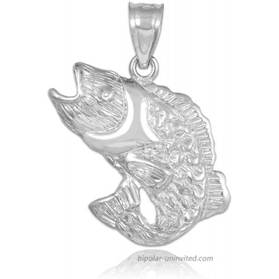Sports Charms 925 Sterling Silver Sea Bass Pendant Claddagh Gold
