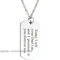 Wedding Gift Blended Today I Tell Your Dad I do and I Promise You Forever Too Necklace Gift for Stepson Step Daughter Necklace
