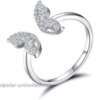 925 Sterling Silver Butterfly Ring for Women - Adjustable Animal Ring Earrings With Cubic Zirconia Jewelry Gift for Ladies Bridesmaid Nature Lovers Butterfly ring