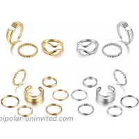 IFKM 20Pcs Vintage Knuckle Ring Set Bohemian Stackable Chunky Gold Silver Plated Statement Rings for Women Minimalist Carved Hollow Midi Joint Finger Rings Jewelry for Girl Gift