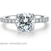 Precision Cut Zircon 2 Ct Round-cut Halo Bridal Ring 925 Silver Accented Brilliant Solitaire Engagement Ring |