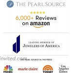 THE PEARL SOURCE 8-9mm Genuine Black Tahitian South Sea Cultured Pearl & Cubic Zirconia Ashley Ring for Women