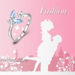 AOBOCO Sterling Silver Butterfly Series Ring Anniversary Birthday Jewelry Gifts for Women Girls