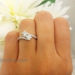 Dazzlingrock Collection 1.00 Carat ctw 14K Gold Round White Diamond Ladies Two Stone Bypass Style Bridal Engagement Ring 1 CT  