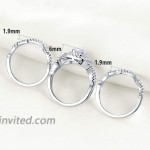 Newshe Engagement Rings Wedding Sets for Women 925 Sterling Silver 3pcs 2.3Ct White AAA Cz Size 5-12