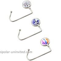 CellCase 3 Pieces Purse Hook Long Handbag Table Hanger Portable Bag Holder for Women Girl Gift 3 Pieces - style 2