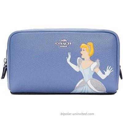 Disney X Coach Small Boxy Cosmetic Case With Cinderella Sv Periwinkle Multi C1875