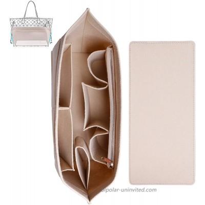 Doxo Felt Organizer Insert Handbag&Tote Purse Organizer Insert Large with Zipper Bag Fits for Speedy and Neverfull MM