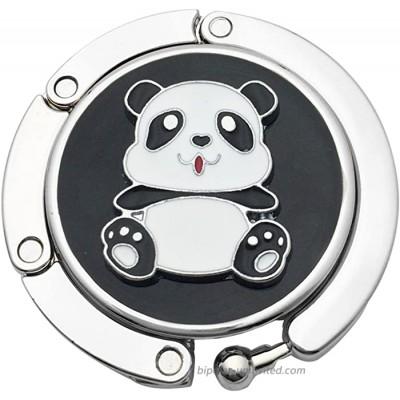 Panda Designed Shoulder Handbag Folding Purse Holder Hangers Hooks Foldable Purse Hanger Handbag Table Hook Holder Black