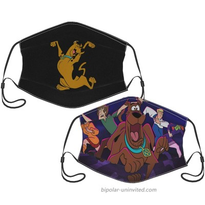2pcs Scooby Doo Face Cover Protective Mask With 4 Filter Windproof Dustproof Adjustable Balaclava For Men Women at  Men's Clothing store