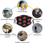 Anime Face Mask 2 Pcs Washable Breathable Face Cover Cartoon Merch Cloth for Adult Men Woman Madk at Men's Clothing store