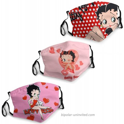 Betty Boop Face Mask The Double-Layer Cotton mask of The Bridge of The Nose is Reusable Red at  Men's Clothing store