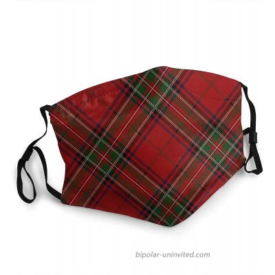 Clan Stewart Scottish Tartan Plaid Face Masks Washable Reusable ty Masks Protection from Dust Pollen Pet Dander Other Airborne at  Men's Clothing store