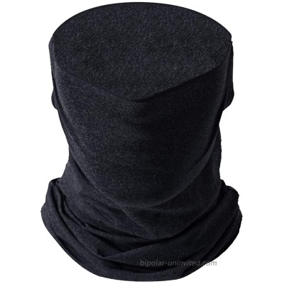 Cooling Outdoor Breathable Neck Gaiter Face Mask Fishing Cycling Hiking Scarf Face Cover for Men Women Dark Grey