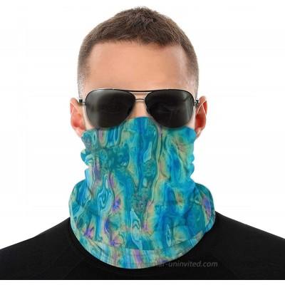 Face Mask Neck Gaiter Dust Sun UV Protection Bandana Scarf for Men Women Acid Lagoon at  Men's Clothing store