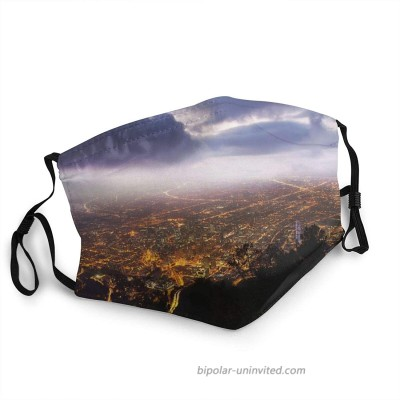 Face Masks for Adults Dust Colombia Bogota Monserrate Washable Reusable Face Bandanas Indoor and Outdoor Activities at  Men's Clothing store
